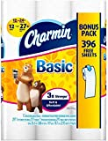 Charmin Basic Toilet Paper, Double Roll, Bonus Pack, 12 Count