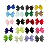 "Janecrafts 20pc 3"" Boutique Windmill Style Hair Bows Girls Baby Alligator Clip Grosgrain Ribbon Headbands"