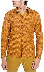 Oshano Men's Casual Shirt (OSH_023_m, Brown, m)