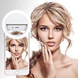 Selfie Ring Light, Leadpo 36 LED for iPhone Samsung Galaxy Sony, Motorola and Other Smart Phones, 3-Level Brightness LED Clip On for All Smartphones/ Tablets, Great for Applying Make Up (Pearl White)