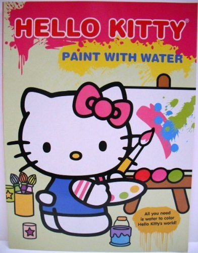 Hello Kitty Paint with Water Book - Hello Kitty at Easel