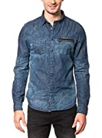 AMERICAN PEOPLE Camisa Vaquera Edge (Azul Denim)