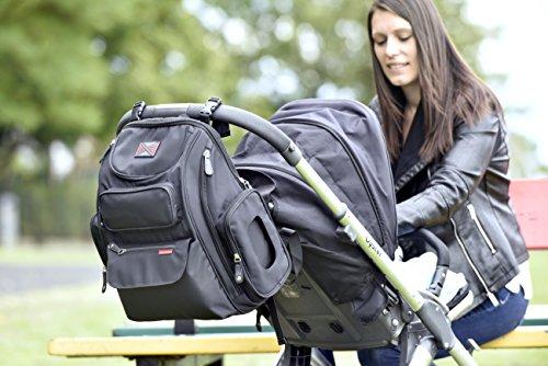 bag nation diaper bag backpack with stroller straps changing pad and sundry. Black Bedroom Furniture Sets. Home Design Ideas