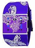 01TheOne Women's SLSL139B3 Slim Square Classic LED Watch
