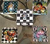 Disney Parks Alice in Wonderland Ceramic Salad Dessert Plate Set of 4