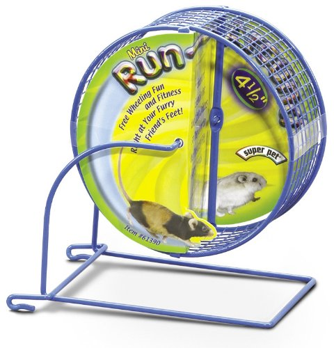 Super Pet Mouse Run-Around 4-1/2-Inch Mini Exercise Wheel, Colors Vary