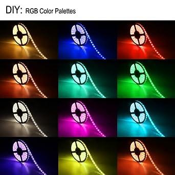 lighting ever bandes bandes led rvb flexibles bande lumineuse multicolore. Black Bedroom Furniture Sets. Home Design Ideas