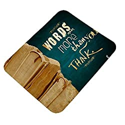 Clapcart Words Mean More Then You Thank Design Printed Rubber Base Mat finish Mouse Pad For PC / Laptop - Multicolor