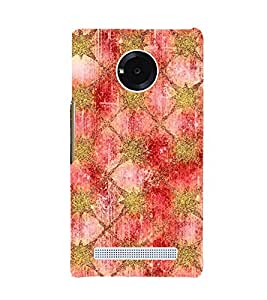 ARTISTIC GOLDEN AND MAROON NET PATTERN 3D Hard Polycarbonate Designer Back Case Cover for YU Yuphoria::Micromax Yuphoria YU5010