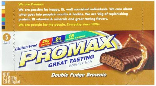 Promax Bar Nutritional Bars, Double Fudge Brownie 5pk, 2.64 Ounce