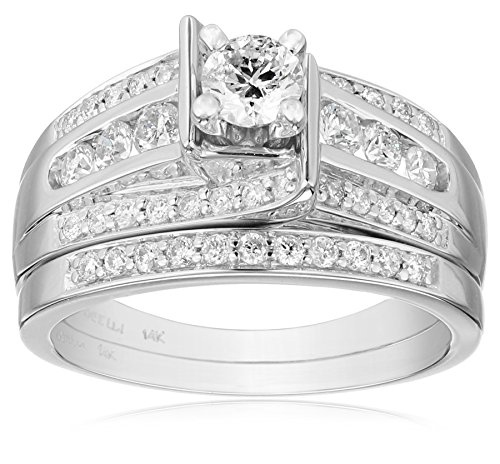 Kobelli-Je-Taime-Round-Diamond-Wedding-Ring-Set-1-cttw-H-I-Color-I1-I2-Clarity