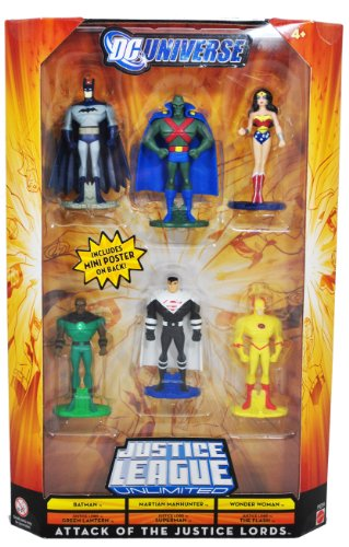 Buy Low Price Mattel DC Universe Year 2008 Justice League Unlimited 6 Pack 3 Inch Tall Figure – ATTACK OF THE JUSTICE LORDS – Batman, Martian Manhunter, Wonder Woman, Justice Lord Green Lantern, Justice Lord Superman and Justice Lord The Flash (P9289) (B004DBNRCU)