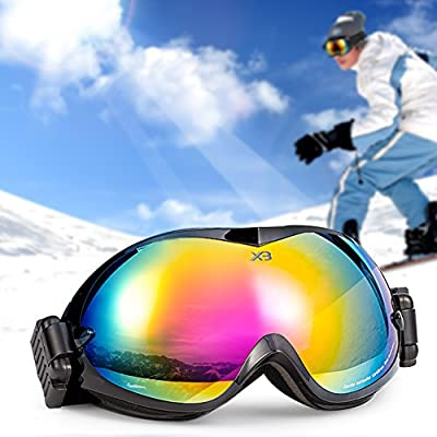 """Deal of the Day"" Christmas Gift-Gonex Professional Ski Goggles OTG Anti-fog Windproof UV Protection with Double Lens For Skiing Snowboard Skate Winter Sports+Goggle Case EVA Box"