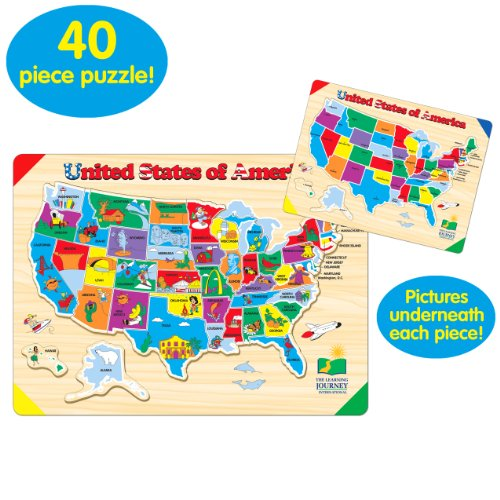 Learning Journey Lift Learn USA Map Puzzle - Us map pizzle
