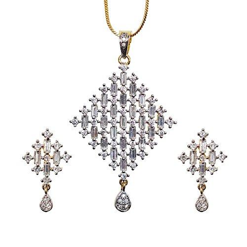 Sheetal Jewellery Silver & Golden Brass & Alloy Pendant Set For Women - B00TIH05LK