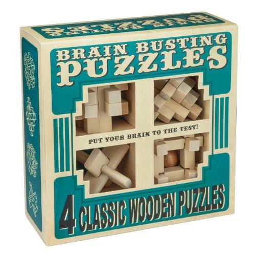 Professor Puzzle Brain Busting 4 Wooden Puzzle Set
