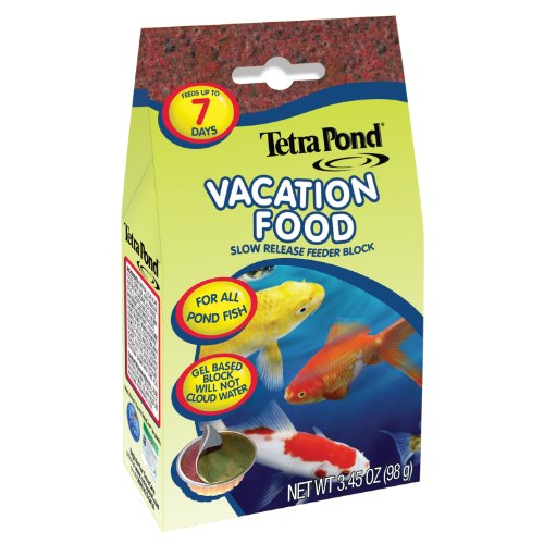 Tetra Pond Vacation Food, Slow Release Feeder Block, 3.45 Ounces