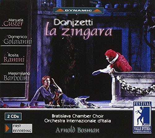 CD : DONIZETTI / CUSTER / COLAIANNI / BOSMAN - Zingara
