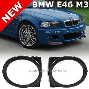 BMW E46 M3 01-06 Front Bumper Fog Light Lamp Covers Left & Right