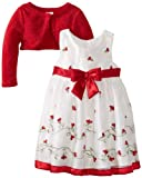 Youngland Girls 2-6X Woven Occasion Dress with Shrug