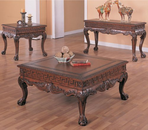 Lovely You will see more info pare charge and in addition read examine customer opinions prior to buy Arcata Coffee Table Set with Ball and Claw Design in Dark