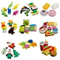 Cute Food Animal Vegetable Fruit Toy Gifts Simulation Rubber Pencil Eraser Set 1pcs