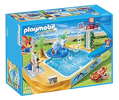 Playmobil 5433 Summer Fun Children's Pool with Whale Fountain