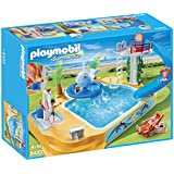 PLAYMOBIL Children's Pool with Whale Fountain Playset
