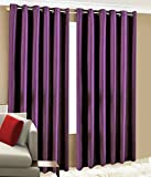 "Home Candy Eyelet Fancy Polyester 2 Piece Door Curtain Set - 84""x48"", Purple (SOE-CUR-116_116)"