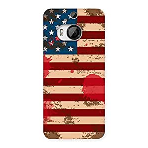 FROZEN VIBES Cool Grunge USA Flag Back Case Cover for HTC One M9 Plus