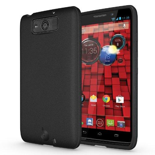 Diztronic Matte Back Black Flexible Tpu Case For Motorola Droid Maxx (Late 2013) Xt1080M - Retail Packaging