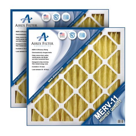 16x20x4 Pleated Air Filter MERV 11 - Highest Quality - 3 Pack - (Actual Size: 15.5 X 19.5 X 3.625)