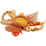 FunRobbers Diwali Diya Lights Candle Holder Home Decoration, Set Of 2 (Colour According To Availability) - Handcrafted...