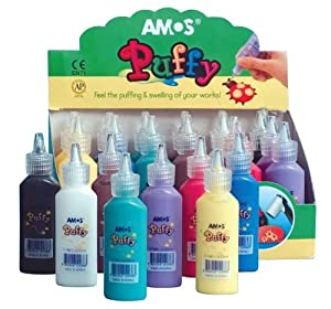 Amos Puffy Paint Classroom Pack - Set of 24 - Assorted Colors