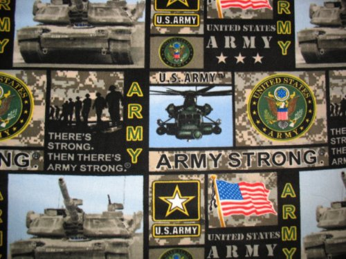 Us Army (New Pattern) Allover Printed Fleece Throw Blanket front-507260