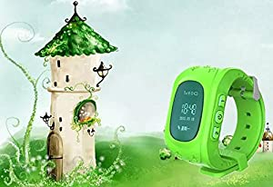 ROYALFiT SIM Card SOS LBS Position Child GPS Tracker Watch PT-AW2 (Green)