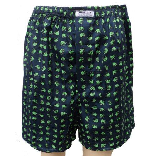 Comparamus 100 Thai Silk Boxer Shorts Elephant Design