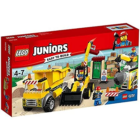 LEGO - 10734 - Juniors  - Jeu de Construction - Le Chantier de Démolition