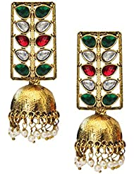 Beingwomen Gold Plated Kundan Studded Fashion Jhumki Earring