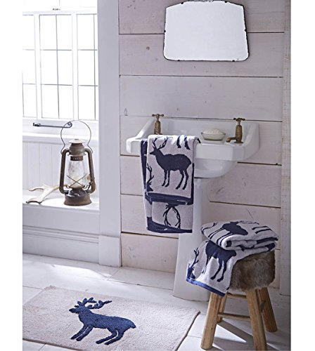 catherine-lansfield-stag-jacquard-hand-towel-navy