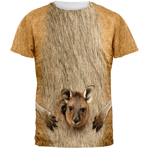 Halloween Kangaroo Costume All Over Adult T-Shirt