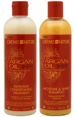 Amazon.com : CREME OF NATURE Argan Oil Moisture Shine Shampoo & Intensive Treatment Set : Shampoo And Conditioner Sets