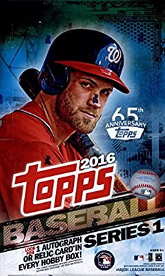 2016 Topps Series 1 Baseball Cards Hobby Box (36 Packs of 10 Cards - 1 Autograph or Relic) (Release Date - 02/03/2016)