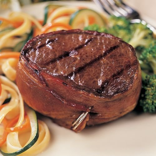 Omaha Steaks 12 (6 oz.) Bacon-Wrapped Top Sirloins (Bacon Wrapped Meat compare prices)