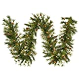 Vickerman Mixed Country Garland with 70 Clear Lights - 9-Feet by 12-Inch