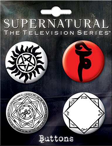 Ata-Boy Supernatural Runes Assortment #2 4 Button Set