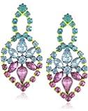 Steve Madden Multi-Colored Crystal Drop Earrings