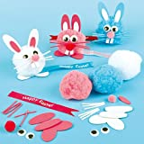 Happy Easter Bunny Pom-Pom Pal Kits (Pack of 6)