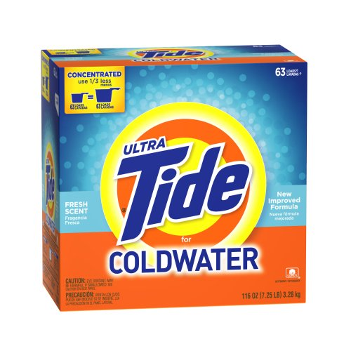 Tide Ultra For Coldwater Fresh Scent Powder, 63 Loads, 116-Ounce