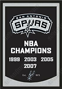 Dynasty Banner Of San Antonio Spurs With Team Color Double Matting-Framed Awesome... by Art and More, Davenport, IA